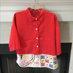 Vintage cotton/polyester top